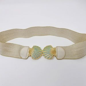 Lilly Pulitzer Gold Seashell Belt